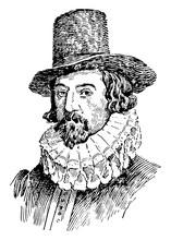 Lord Francis Bacon, Vintage Illustration