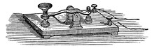 Morse Key, Vintage Illustration.