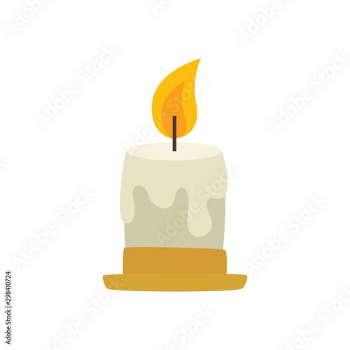 Carta da parati candle decorative christmas design