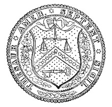 The Seal Of The Treasury Department Of The United States, Vintage Illustration