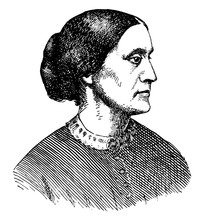 Susan B. Anthony, Vintage Illustration
