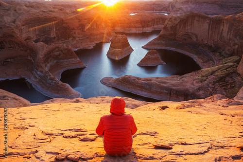 Montage in der Fensternische Dunkelbraun Reflection canyon
