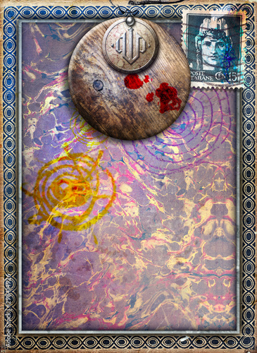 Papiers peints Imagination Gothic and abstract background with surreal window and frame