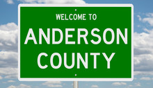 Rendering Of A Green 3d Highway Sign For Anderson County
