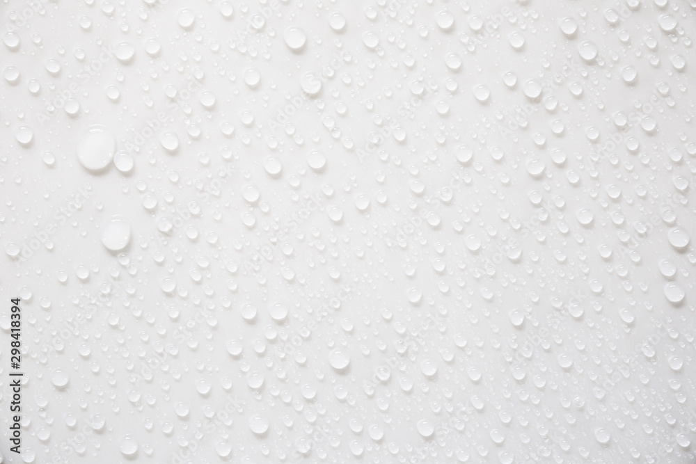 Fototapety, obrazy: Raindrops on a grayish white background. Rainy season concept.