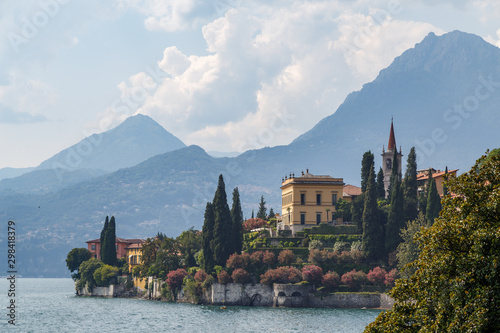 Gardens of Villa Monastero in Varenna town on Como lake, Italy