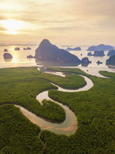 Aerial Top View Of Samet Nangs...