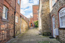 Ginnel, Snicket Or Public Footpath Through A Small Yorkshire Town