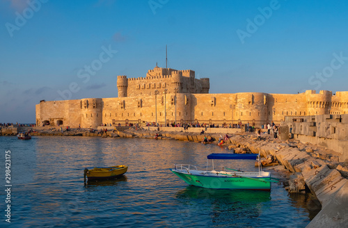 The Citadel of Qaitbay (The Fort of Qaitbay), fortress erected on the exact site Wallpaper Mural