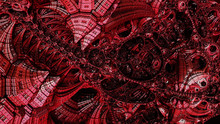 Abstract Background, Fantastic 3D Structures, Dark And Bloody
