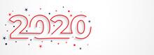 Minimal 2020 Line Style New Ye...