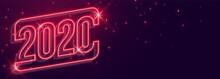 Beautiful 2020 New Year Neon S...