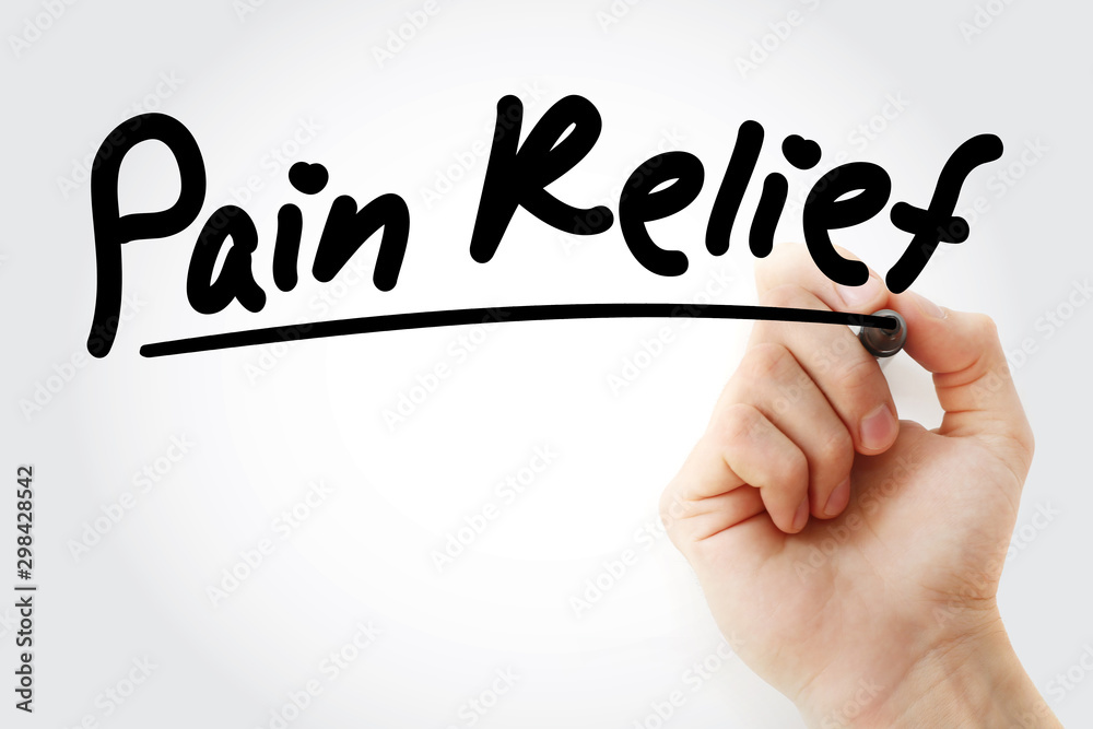 Fototapety, obrazy: Hand writing Pain Relief with marker, health concept background