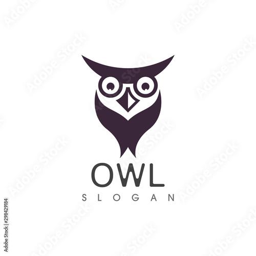 Poster Owls cartoon Owl bird illustration logo template vector