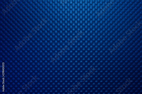 The dark blue square block shape embossed texture background with the lighting on the top Tapéta, Fotótapéta