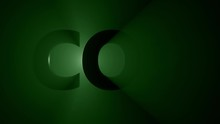 Abstract CO2 Symbol In Front O...