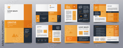 orange business brochure pages template Fototapet