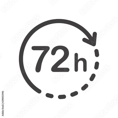 72 hours icon Fototapeta