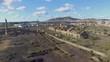 Aerial shot of the ruined industrial Estate of Peñarroya (Córdoba)