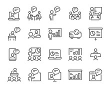 Set Of Presentation Icons, Mee...
