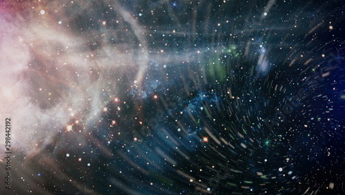 Chaotic space background. planets, stars and galaxies in outer space showing the beauty of space exploration.The elements of this image furnished by NASA.