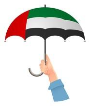 United Arab Emirates Flag Umbrella