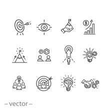 Mission Vision Integrity Icons...