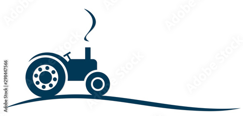 The Symbol of big heavy tractor. Wallpaper Mural