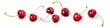 Leinwandbild Motiv Cherry fruit composition banner