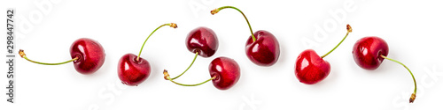 Cherry fruit composition banner Fototapete