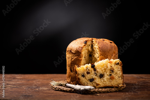 Fototapeta Panettone is the traditional Italian dessert for Christmas obraz