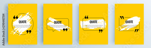 Carta da parati Quote frames blank templates set