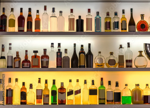 Luxury alcohol bar, beverages for cocktails Canvas Print
