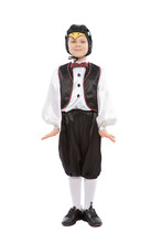 Little Beautiful Boy In A Penguin Costume
