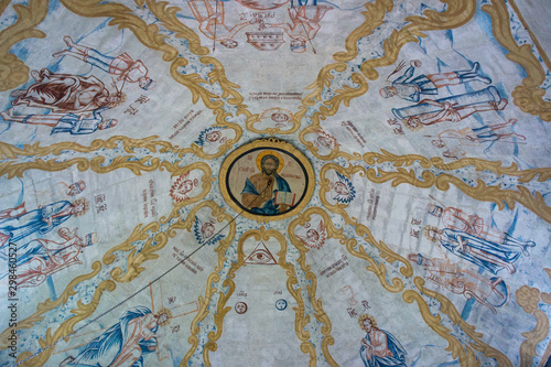 Photo  Frescoes in the Church of Elijah the Prophet from the village of Verkhny Berezovets