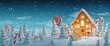 Leinwanddruck Bild - Amazing fairy Christmas house