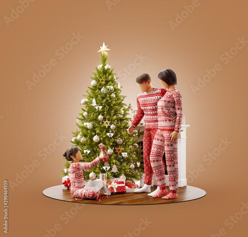 Fotografie, Tablou Unusual christmas 3D illustration