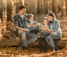 Family Together Reading Books ...
