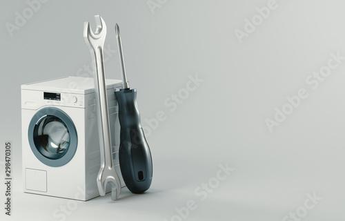 Valokuva  Washing machine repair