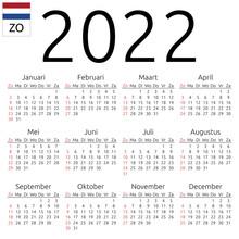 Calendar 2022, Dutch, Sunday