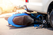 Motorcycle And Car Accident On...