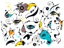 Miro Inspired Art, Surrealisti...