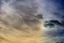 Sundog In Dramatic Sky