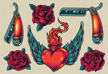 Colorful Flash Tattoo Designs