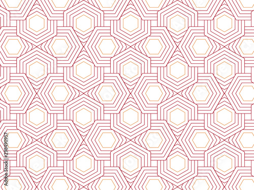 Photo Repeating hexagon shape vector pattern