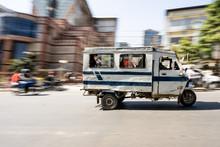 Nepalese Motor Rickshaw Is Rid...