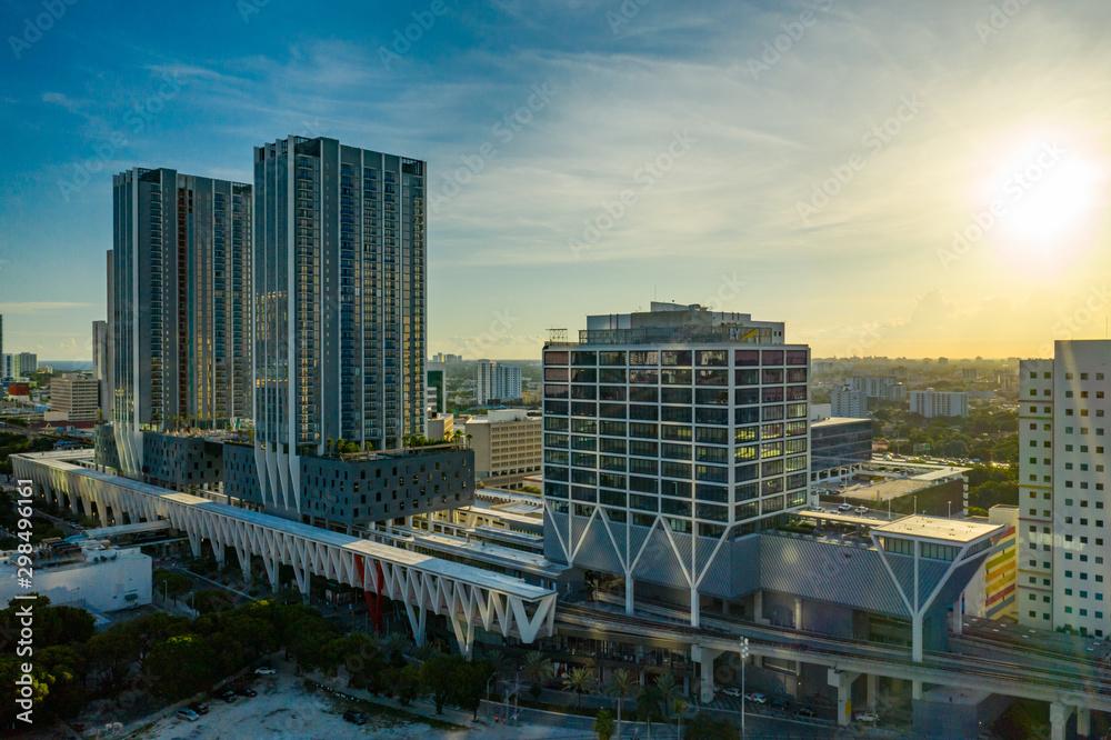 Fototapety, obrazy: Virgin Trains USA Brightline Station Downtown Miami Florida USA.