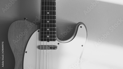 vintage electric guitar on white background - 298499715