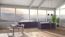 Modern Minimalist Violet Color...
