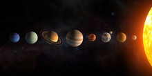 Solar System Planets Set. The ...
